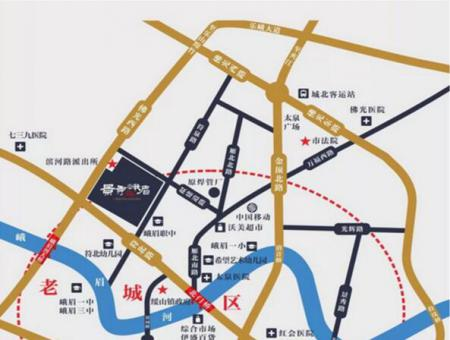 景秀峨眉交通图
