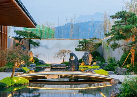 莲花湖实景图