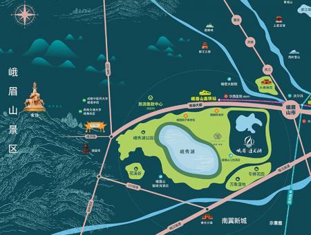 莲花湖区位图